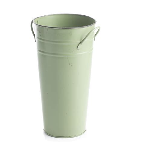 Rustic Green French Flower Bucket Baskets Buckets