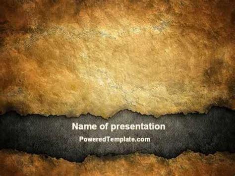 parchment powerpoint template  poweredtemplatecom