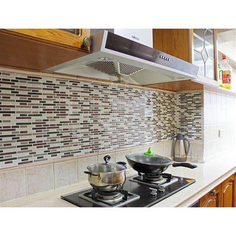 Kitchen Backsplash Stick On Tiles by Fancy Fix Vinyl Peel Stick Decorative Backsplash Kitchen