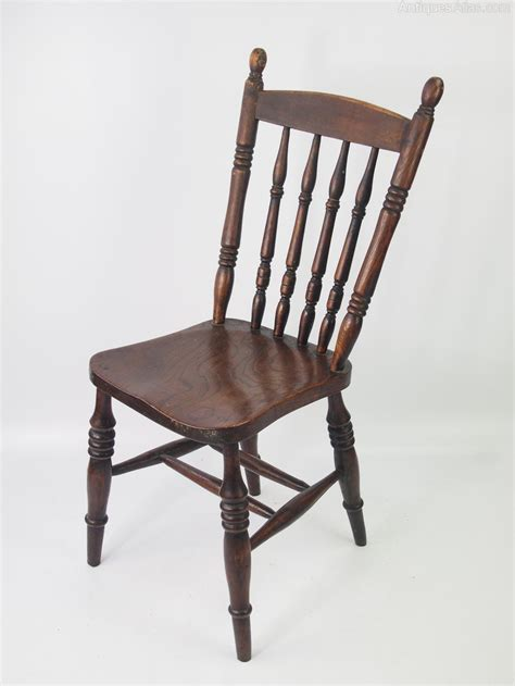 Pair Antique Victorian Kitchen Chairs   Antiques Atlas