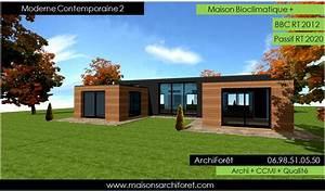 plan maison ossature bois toit plat With lovely maison bois toit plat 12 maison contemporaine avec patio