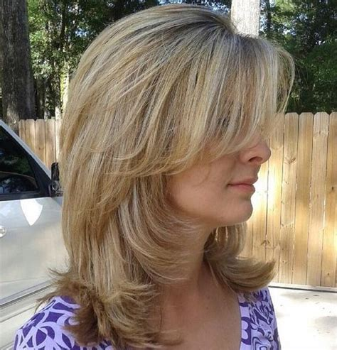 medium hairstyles with layers and side bangs 70 brightest medium length layered haircuts and hairstyles
