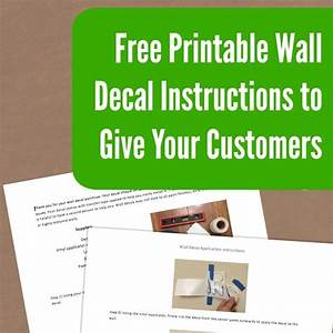 Free Printable Wall Decal Instructions For Your Silhouette