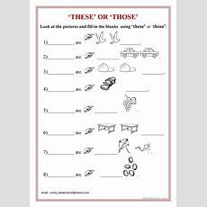 'these' Or 'those' Worksheet  Free Esl Printable Worksheets Made By Teachers