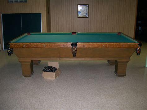 brunswick balke collender pool table identity of table