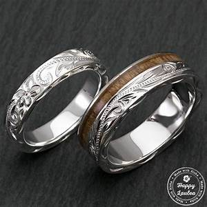 happy laulea handmade wedding rings koa wood wedding rings With hawaiian style wedding rings
