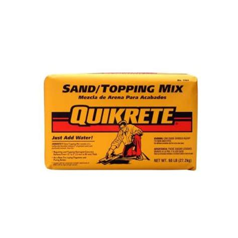 depot quikrete quikrete 60 lb sand topping mix 110360 the home depot Home