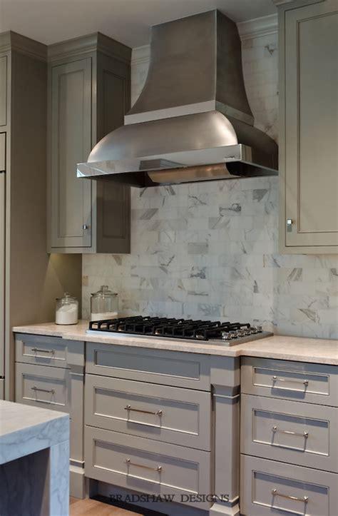 light taupe cabinets transitional kitchen bradshaw