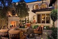 fine italian patio design ideas Mediterranean Tuscan Home Exterior Patio | new house ...