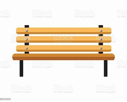 Bench Clipart Banc Wooden Banco Isolated Seul