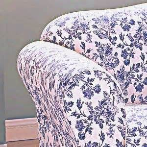Sure fit shabby cottage toile navy blue floral sofa for Blue floral sofa covers