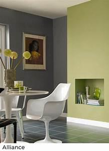 Peinture Murale Couleur : nuancier peinture murale vert painttrade ~ Melissatoandfro.com Idées de Décoration