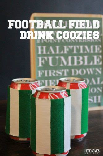 football field drink coozies    sun