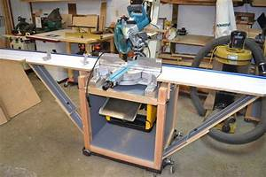 Miter Saw Stand/Planer Station With Rotating Top - YouTube