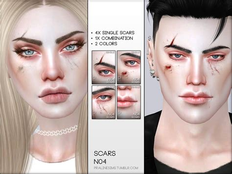 Pralinesims Face Scars N04