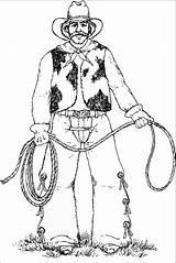 Cowboy Rodeo Coloring Printable Drawing Cowboys Coloring2print sketch template