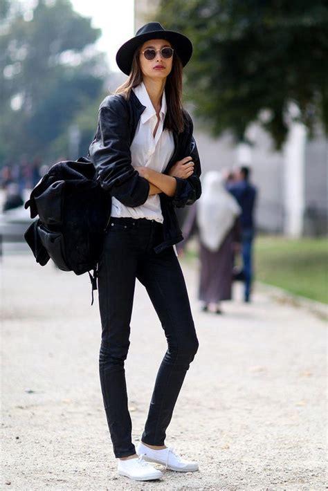 Cu00f3mo Combinar Unas Simples Zapatillas Blancas | Cut u0026 Paste u2013 Blog de Moda