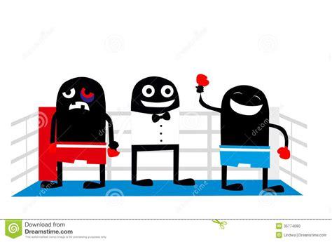 Boxin Winner Cartoon Characters Stock Vector