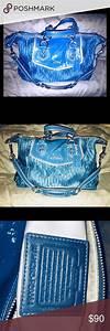 Coach Ashley Gathered Satin Satchel Handbag Medium Sized