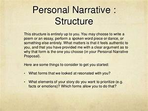 personal narrative assignment