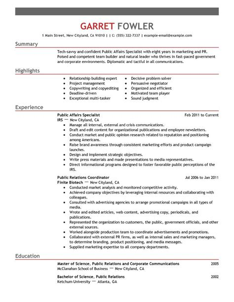 Government Relations Resume by Best Affairs Specialist Resume Exle Livecareer