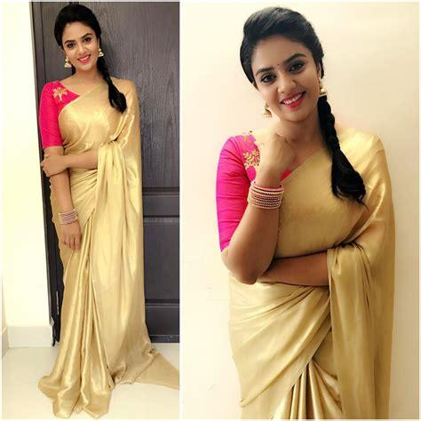 plain saree with designer blouse this shows 12 fresh ways to wear plain sarees