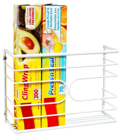 wrap organizer kitchen kitchen wrap rack organizer on 1188