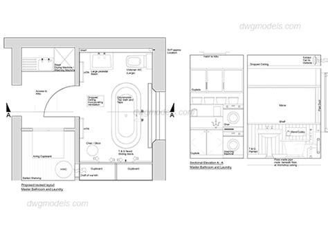 Bathroom Cad Blocks Plan by Bathroom Plan And Elevation Dwg Free Cad Blocks