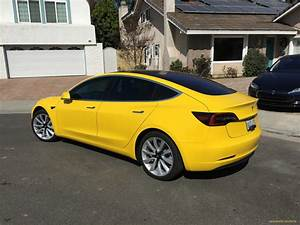 Yellow Tesla Model 3 that rocked 'reddit' now with tinted ...