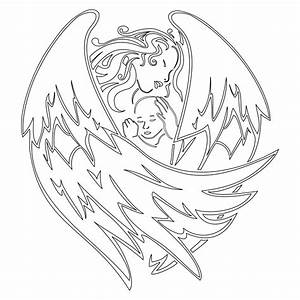 baby angel coloring pages - monic angel colouring pages