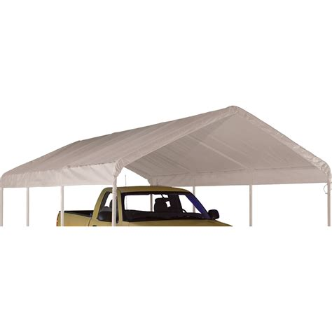 shelterlogic replacement outdoor canopy tent top ft  ft white northern tool equipment