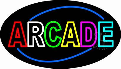 Neon Arcade Sign Signs Games Flashing Prod