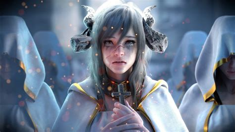 fantasy demon priest wallpapers hd wallpapers id