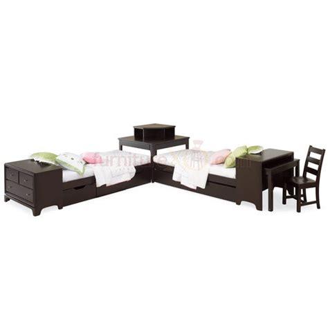 bed with desk attached bed corner unit w attached dresser desk love kid s