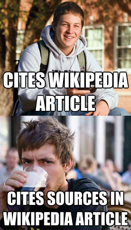 Memes Wikipedia - the difference between college freshman and college senior the meta picture