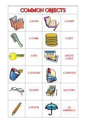 preschool kitchen furniture worksheets common objects