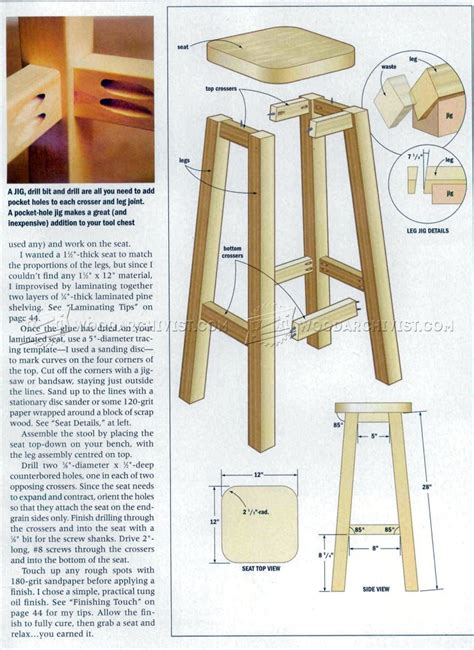 kitchen stool plans woodarchivist