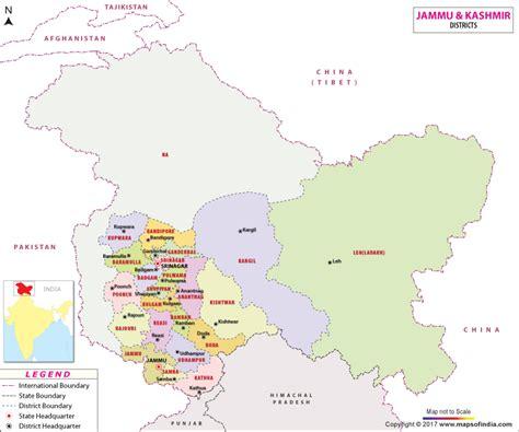 jammu  kashmir district map