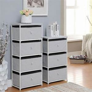 Daily, Necessities, Bedroom, Storage, Units, Ce, Storage, Shelving, Units, With, Fabric, Drawer
