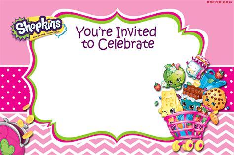 birthday blank template free blank printable shopkins invitation template free