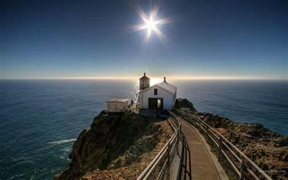 Lighthouse Desktop Wallpapers Backgrounds Beach Des