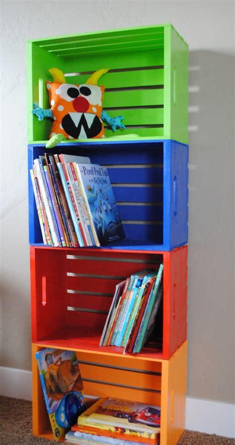 bookshelf for classroom diy bookshelf made from crates