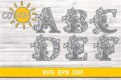 Free layered mandala alphabet svg | layered mandala, cricut free, alphabet svg. 3D Alphabet Layered Mandala SVG Bundle 26 letters