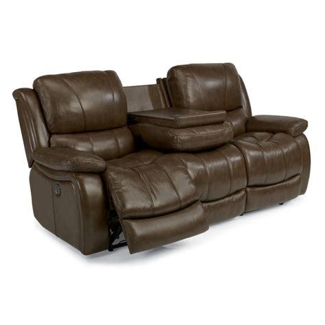 Cheap Reclining Couches by Flexsteel 1343 62p Zandra Leather Power Reclining Sofa