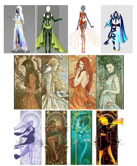 four elements earth outfits based water inspired fire air comments