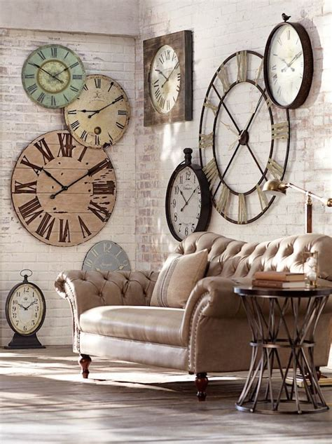large clock ideas  pinterest wall clock decor