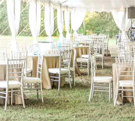 silver chiavari chair rental by oconee events atlanta