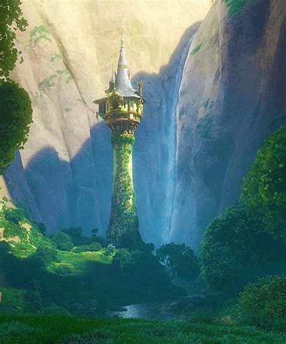 Tangled Tower Rapunzel Disney Scenery Campbell Scene