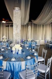 silver wedding wedding with blue silver ivory wedding color palette wedding venue decor