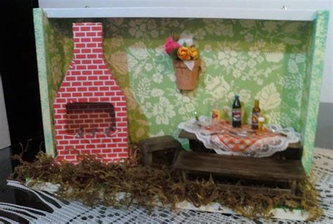 quadro miniaturas churrasqueira no elo7 charme em miniaturas 224c0c